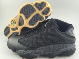 "Super Max Perfect Air Jordan 13 Low Quai 54 ""Black"""