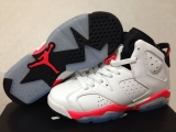 Perfect Air Jordan 6 Retro Women White Red