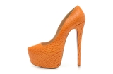 CL 16 cm orange snake for women\'s shoes AAA