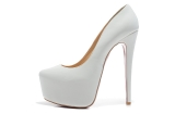 CL 16 cm white patent leather shoes AAA