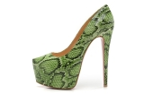 CL Green serpentine 16 cm for women\'s shoes AAA