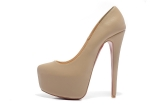 CL shoes 16 cm nude suede shoes AAA