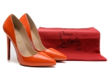 CL 12 cm orange patent leather shoes AAA