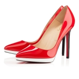 CL 12 cm red white patent leather shoes AAA