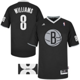 Autographed Deron Williams #8 Brooklyn Nets 2013 Christmas Day Swingman Black Jersey