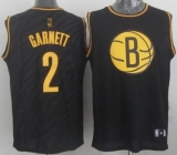Brooklyn Nets #2 Kevin Garnett Black Precious Metals Fashion Stitched NBA Jersey