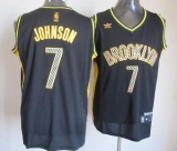 Brooklyn Nets #7 Joe Johnson Black Electricity Fashion Stitched NBA Jersey