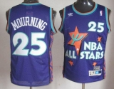 Charlotte Hornets #25 Alonzo Mourning Purple 1995 All Star Throwback Stitched NBA Jersey