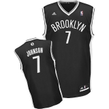Brooklyn Nets #7 Joe Johnson Black Road Revolution 30 Stitched NBA Jersey