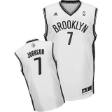 Brooklyn Nets #7 Joe Johnson White Home Revolution 30 Stitched NBA Jersey