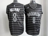 Brooklyn Nets #8 Deron Williams Black Grey Groove Stitched NBA Jersey