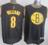 Brooklyn Nets #8 Deron Williams Black Precious Metals Fashion Stitched NBA Jersey