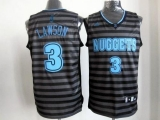 Denver Nuggets #3 Ty Lawson Black Grey Groove Stitched NBA Jersey