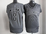 Brooklyn Nets #8 Deron Williams Grey Static Fashion Stitched NBA Jersey