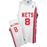 Brooklyn Nets #8 Deron Williams White ABA Hardwood Classic Stitched NBA Jersey