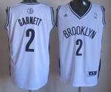 Revolution 30 Brooklyn Nets #2 Kevin Garnett White Home Stitched NBA Jersey