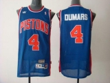 Detroit Pistons #4 Joe Dumars Blue Throwback Stitched NBA Jersey