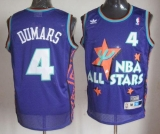 Detroit Pistons #4 Joe Dumars Purple 1995 All Star Throwback Stitched NBA Jersey