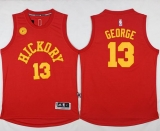 Indiana Pacers #13 Paul George Red Hickory Stitched NBA Jersey