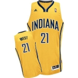 Indiana Pacers #21 David West Yellow Alternate Stitched NBA Jersey