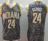 Indiana Pacers #24 Paul George Black Crazy Light Stitched NBA Jersey