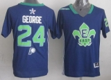 Indiana Pacers #24 Paul George Navy Blue 2014 All Star Stitched NBA Jersey