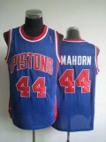 Detroit Pistons #44 Rick Mahorn Blue Throwback Stitched NBA Jersey