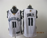 Memphis Grizzlies #11 Michael Conley Revolution 30 White Stitched NBA Jersey