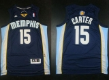 Memphis Grizzlies #15 Vince Carter Revolution 30 Dark Blue Stitched NBA Jersey