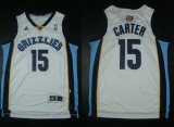 Memphis Grizzlies #15 Vince Carter Revolution 30 White Stitched NBA Jersey