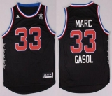 Memphis Grizzlies #33 Marc Gasol Black 2015 All Star Stitched NBA Jersey