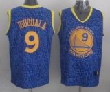 Golden State Warriors #9 Andre Iguodala Blue Crazy Light Stitched NBA Jersey
