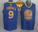 Golden State Warriors #9 Andre Iguodala Blue Crazy Light The Finals Patch Stitched NBA Jersey