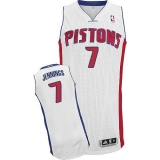 Revolution 30 Detroit Pistons #7 Brandon Jennings White Stitched NBA Jersey