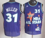 Indiana Pacers #31 Reggie Miller Purple 1995 All Star Throwback Stitched NBA Jersey