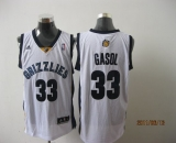 Memphis Grizzlies #33 Marc Gasol Revolution 30 White Stitched NBA Jersey
