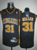 Mitchell and Ness Indiana Pacers #31 Reggie Miller Navy Blue Stitched Throwback NBA Jersey