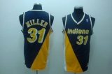 Mitchell and Ness Indiana Pacers #31 Reggie Miller Stitched Black&Yellow Throwback NBA Jersey