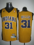 Mitchell and Ness Indiana Pacers #31 Reggie Miller Yellow Stitched Throwback NBA Jersey