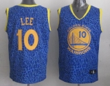 Golden State Warriors #10 David Lee Blue Crazy Light Stitched NBA Jersey