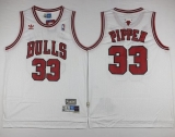 Chicago Bulls #33 Scottie Pippen White Throwback Stitched NBA Jersey