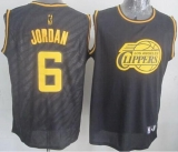 Los Angeles Clippers #6 DeAndre Jordan Black Precious Metals Fashion Stitched NBA Jersey
