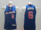 Los Angeles Clippers #6 DeAndre Jordan Blue Alternate Stitched NBA Jersey