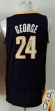 Revolution 30 Autographed Indiana Pacers #24 Paul George Navy Blue Stitched NBA Jersey