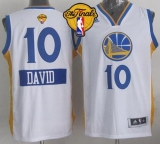 Golden State Warriors #10 David Lee White 2014-15 Christmas Day The Finals Patch Stitched NBA Jersey