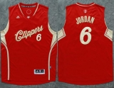 Los Angeles Clippers #6 DeAndre Jordan Red 2015-2016 Christmas Day Stitched NBA Jersey