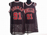 Chicago Bulls #91 Dennis Rodman Stitched Black NBA Jersey