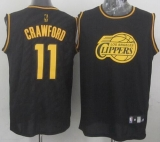 Los Angeles Clippers #11 Jamal Crawford Black Precious Metals Fashion Stitched NBA Jersey