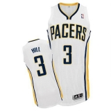 Revolution 30 Indiana Pacers #3 George Hill White Road Stitched NBA Jersey