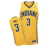 Revolution 30 Indiana Pacers #3 George Hill Yellow Home Stitched NBA Jersey
